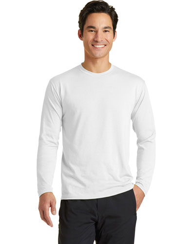 Port & Company PC381LS Men Long-Sleeve Essential Performance Blend Tee at GotApparel