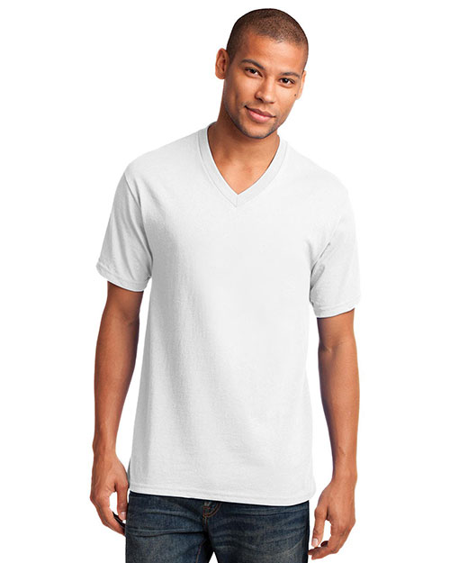 Port & Company PC54V Men 5.4 Oz 100% Cotton V-Neck T-Shirt at GotApparel