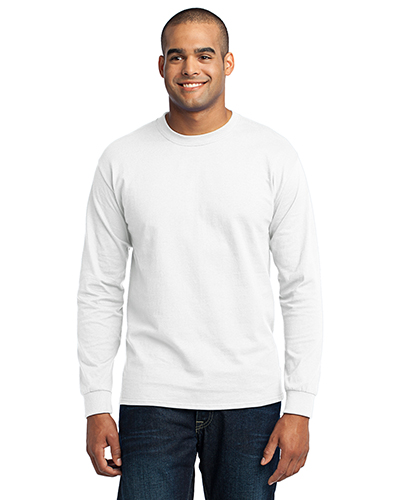 Port & Company PC55LS Men Long-Sleeve 50/50 Cotton/Poly T-Shirt at GotApparel