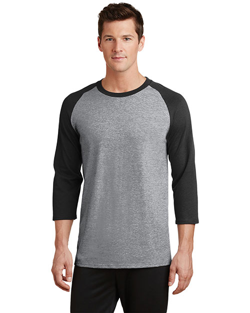 Port & Company PC55RS Adult 50/50 Cotton/Poly 3/4-Sleeve Raglan T-Shirt at GotApparel