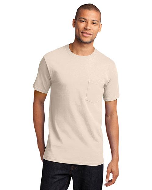Port & Company PC61P Men Essential T-Shirt with Pocket at GotApparel