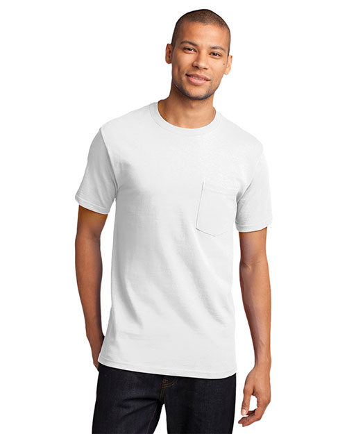 Port & Company PC61P Men Essential T-Shirt with Pocket at GotApparel