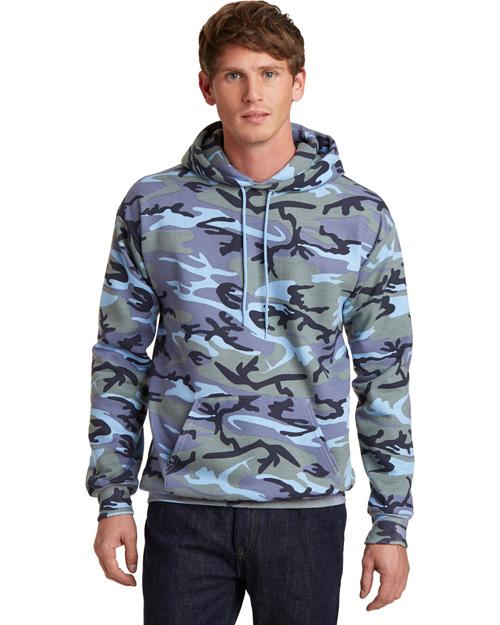 Port & Company PC78HC Men   Core Fleece Camo Pullover Hooded Sweatshirt at GotApparel