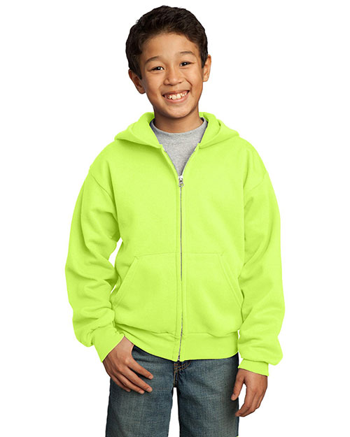 Port & Company PC90YZH Boys Full-Zip Hooded Sweatshirt at GotApparel