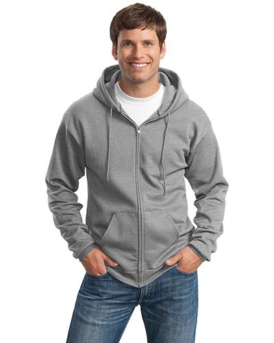 Port & Company PC90ZHT Men Tall Ultimate Full-Zip Hooded Sweatshirt at GotApparel