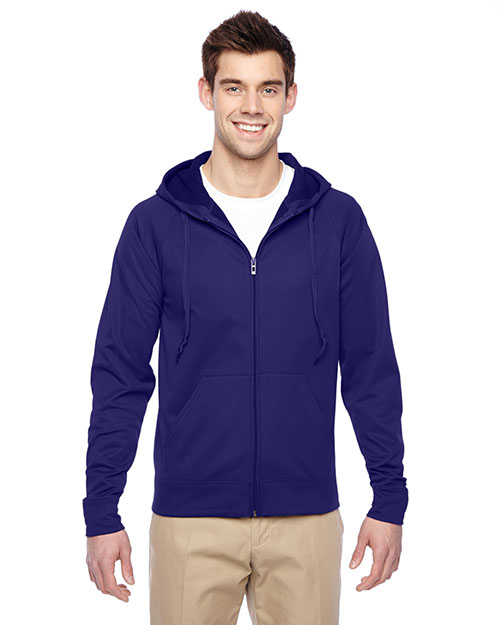 Jerzees PF93MR Adult 6 Oz. Sport Tech Fleece Full-Zip Hood at GotApparel