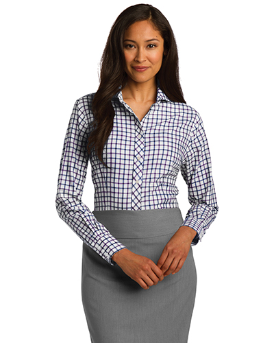 Red House RH75 Women Tricolor Check Non-Iron Shirt at GotApparel