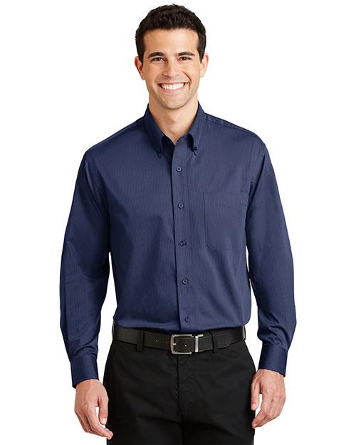 Port Authority S613 Men Tonal Pattern Easy Care Shirt at GotApparel