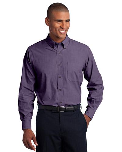 Port Authority S640 Men Crosshatch Easy Care Shirt at GotApparel