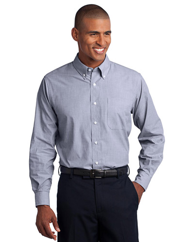 Port Authority S640 Men Crosshatch Easy Care Shirt at GotApparel