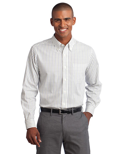Port Authority S642 Men Tattersall Easy Care Shirt at GotApparel