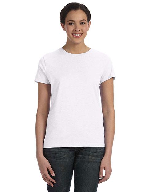 Hanes SL04 Women 4.5 Oz. 100% Ringspun Cotton Nanot T-Shirt at GotApparel