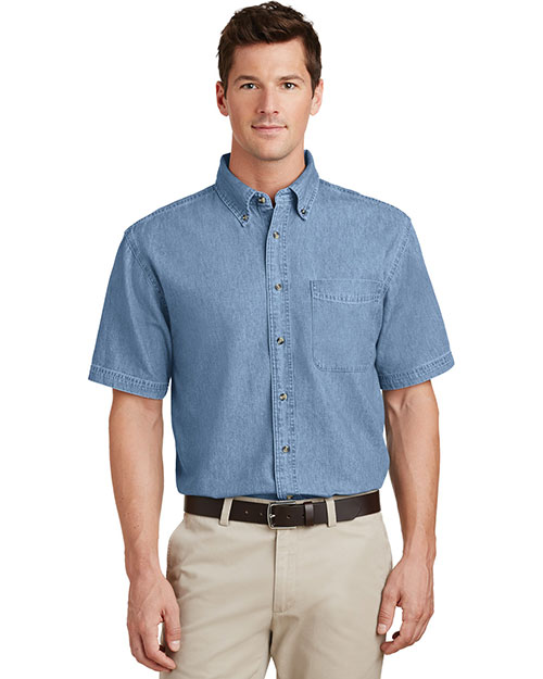 Port & Company SP11 Men Short-Sleeve Value Denim Shirt at GotApparel