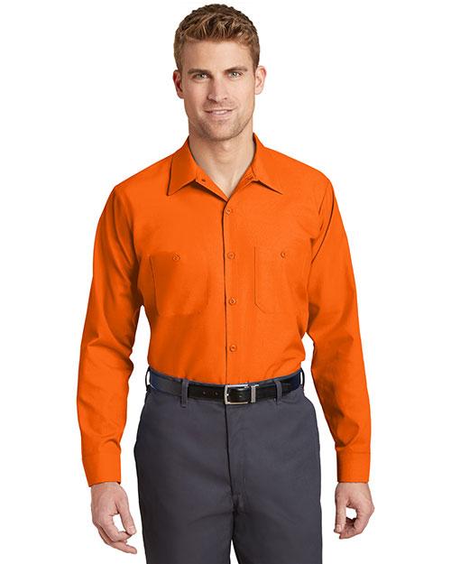 Red Kap  SP14 Men Long-Sleeve Industrial Work Shirt at GotApparel