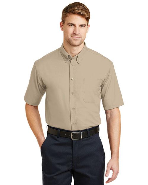 Cornerstone SP18 Men Short-Sleeve Superpro  Twill Shirt at GotApparel