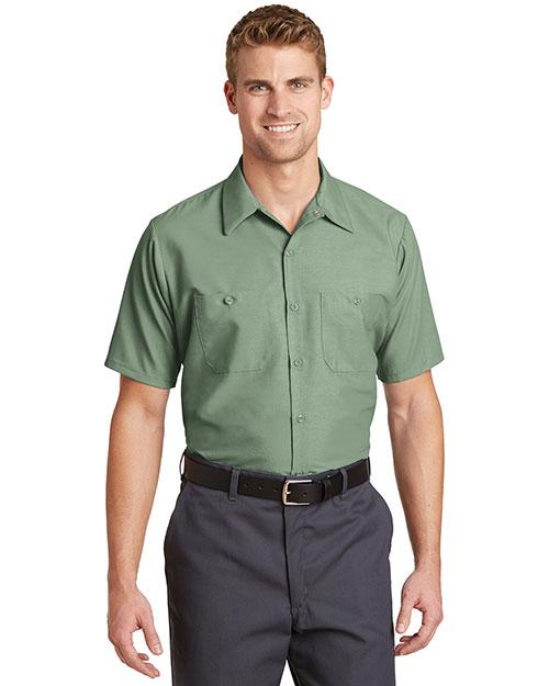 Red Kap SP24 Men Short-Sleeve Industrial Work Shirt at GotApparel