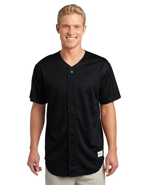 Sport-Tek® ST220 Men PosiCharge® Tough Mesh Full-Button Jersey at GotApparel