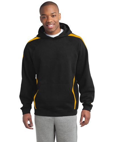 Sport-Tek® ST265 Men Sleeve Stripe Pullover Hooded Sweatshirt at GotApparel