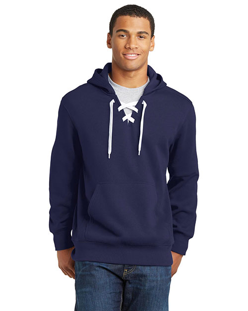 Sport-Tek® ST271 Men Lace Up Pullover Hooded Sweatshirt at GotApparel