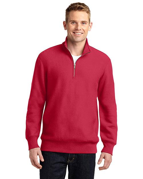 Sport-Tek® ST283 Men Super Heavyweight 1/4-Zip Pullover Sweatshirt at GotApparel