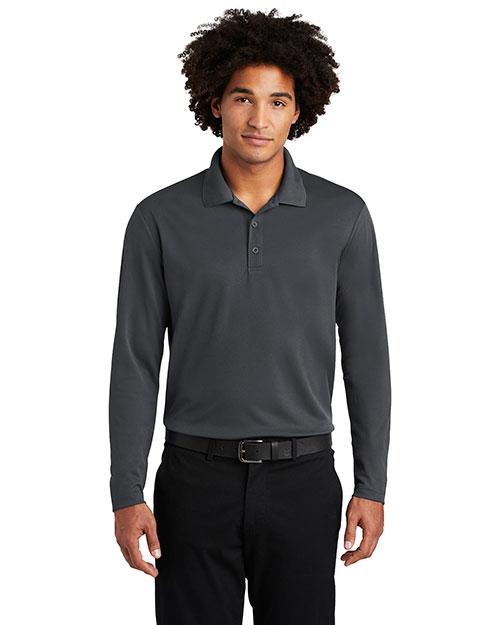 Sport-Tek ST640LS Men 3.8 oz PosiCharge RacerMesh Long Sleeve Polo at GotApparel