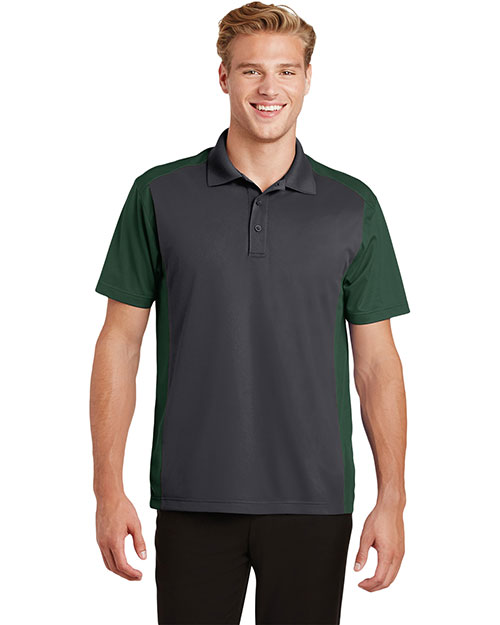Sport-Tek® ST652 Adult Colorblock Micro Pique Polo at GotApparel