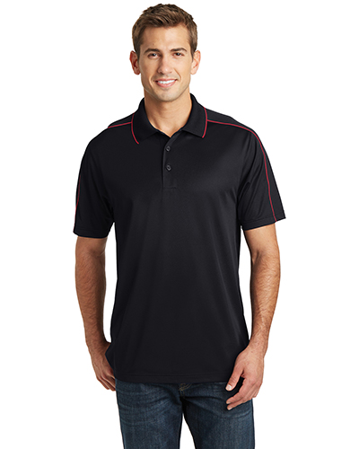 Sport-Tek® ST653 Men Micro Pique Sport-Wick Piped Polo at GotApparel
