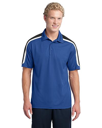 Sport-Tek® ST658 Men Tricolor Shoulder Micro Pique Sportwick Polo at GotApparel