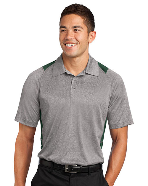 Sport-Tek® ST665 Men Heather Colorblock Contender   Polo at GotApparel