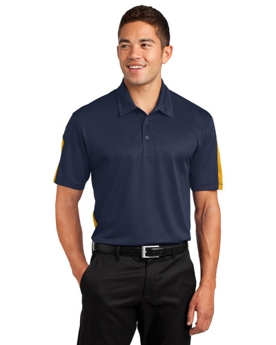 Sport-Tek® ST695 Men PosiCharge®   Active Textured Colorblock Polo at GotApparel