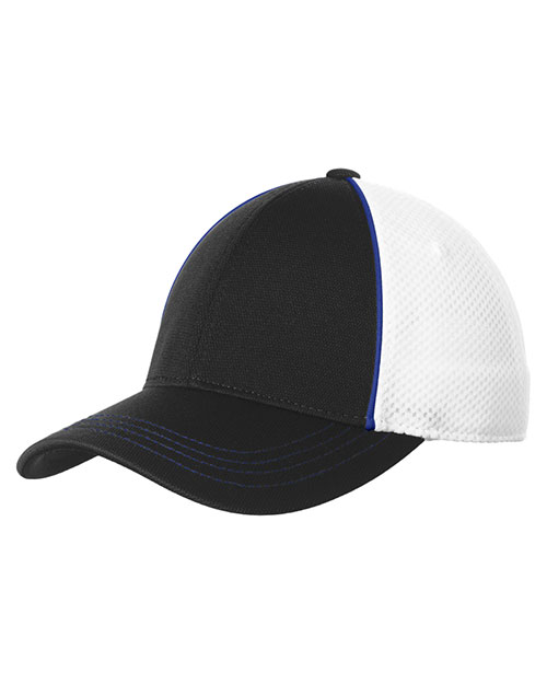 Sport-Tek® STC29 Unisex Piped Mesh Back Cap at GotApparel