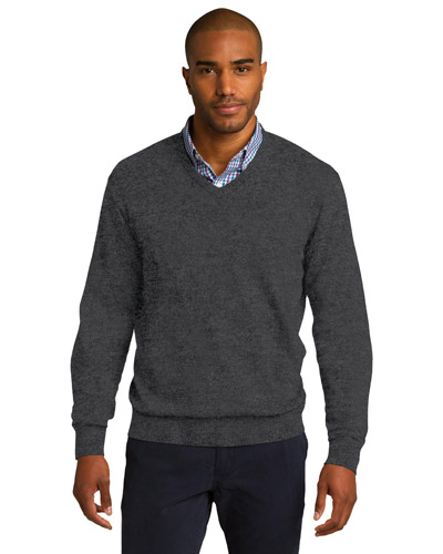 Port Authority SW285 Men V-Neck Sweater at GotApparel