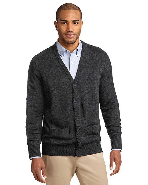 Port Authority SW302 Men Value V-Neck Cardigan With Pocket at GotApparel
