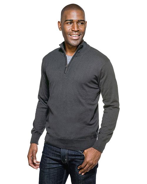 Tri-Mountain SW941 Men Quentin Fine Gauge 1/4-Zip Sweater at GotApparel