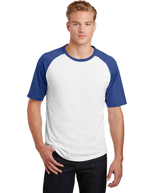 Sport-Tek® T201 Adult Short-Sleeve Colorblock Raglan Jersey at GotApparel
