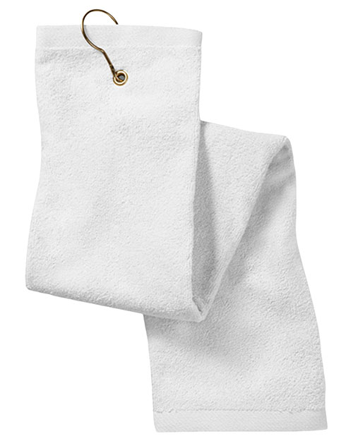 Anvil T68TH Unisex Deluxe Trifold Hemmed Hand Towel With Center Grommet And Hook at GotApparel