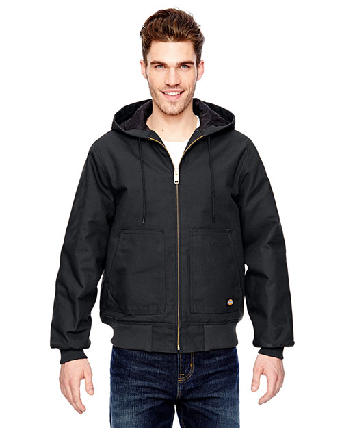 Dickies Workwear TJ718 Adult 10 Oz. Hooded Duck Jacket at GotApparel