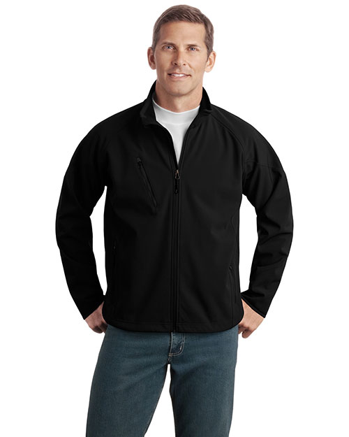 Port Authority TLJ705 Men Tall Textured Soft Shell Jacket at GotApparel