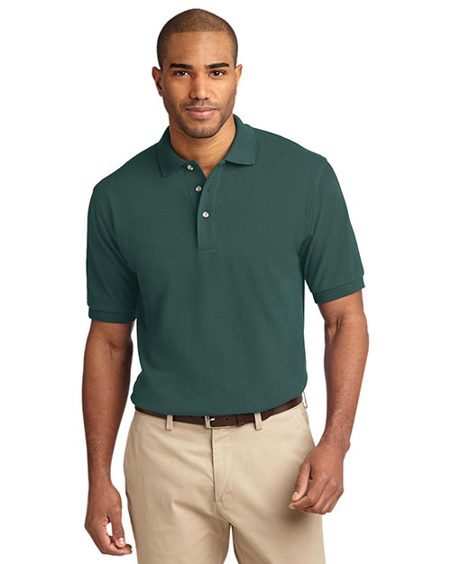 Port Authority TLK420 Men Tall Pique Knit Polo at GotApparel