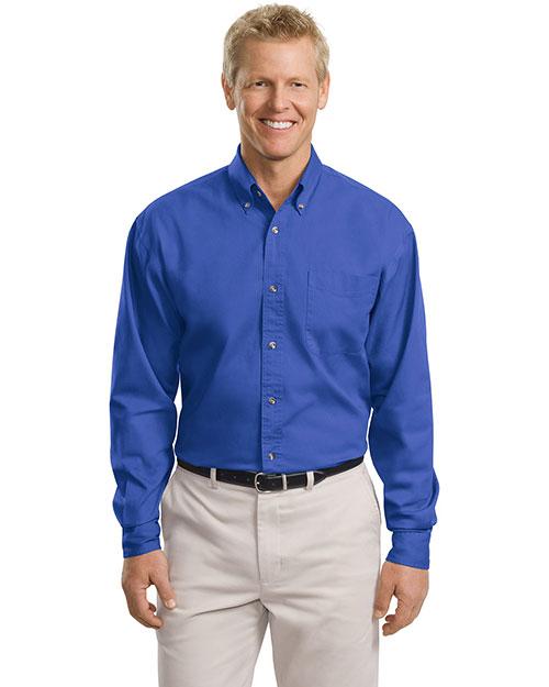 Port Authority TLS600T Men Tall Long-Sleeve Twill Shirt at GotApparel