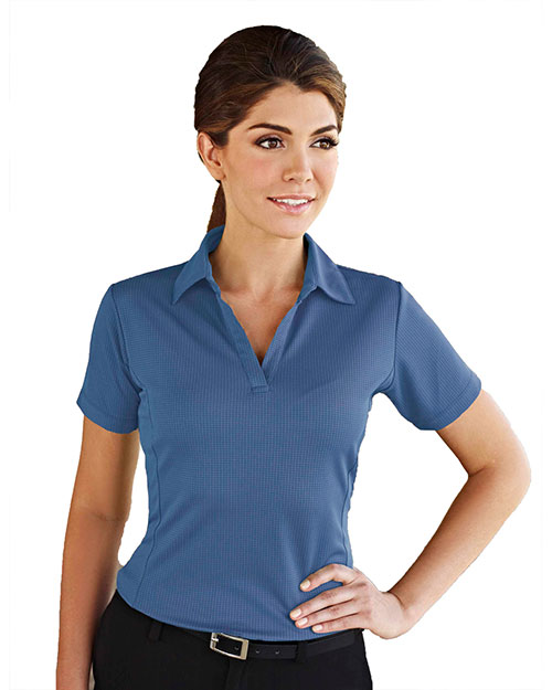 Tri-Mountain 401 Women Saratoga Short-Sleeve Knit Polo Shirt at GotApparel