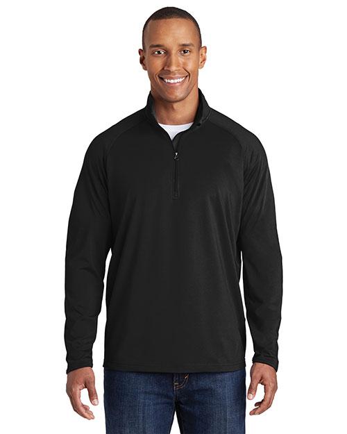 Sport-Tek® TST850 Men Tall Sportwick Stretch 1/4-Zip Pullover at GotApparel