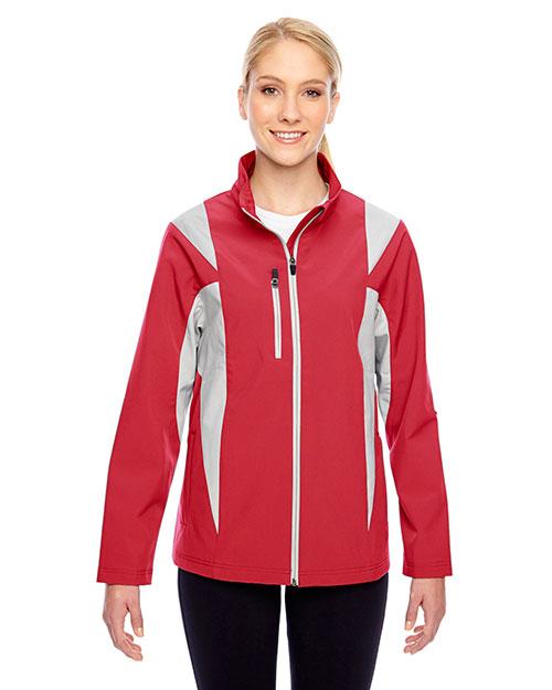 Team 365 TT82W Women Icon Colorblock Soft Shell Jacket at GotApparel