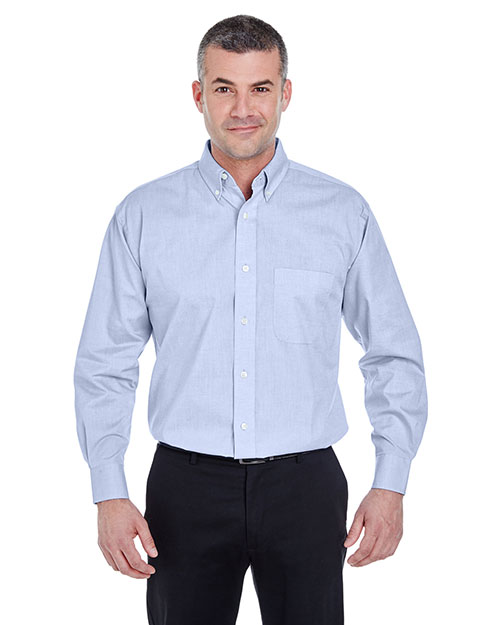 Ultraclub 8360 Men Longsleeve Performance Pinpoint at GotApparel