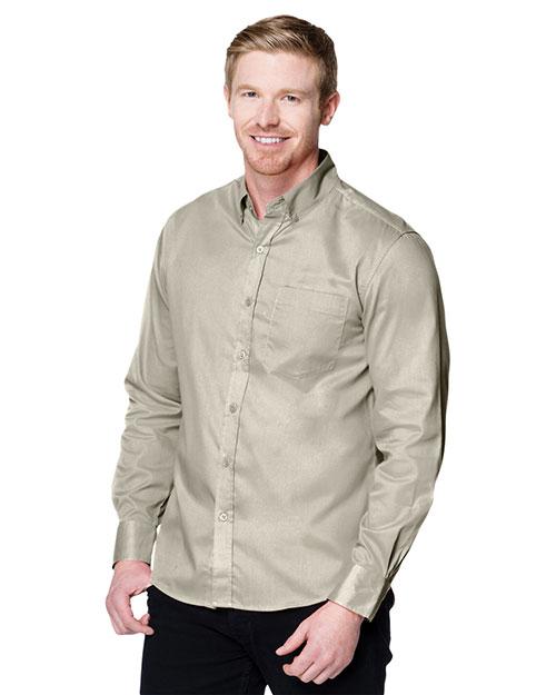 Tri-Mountain W700LS Men Regal Long-Sleeve Woven Shirt at GotApparel