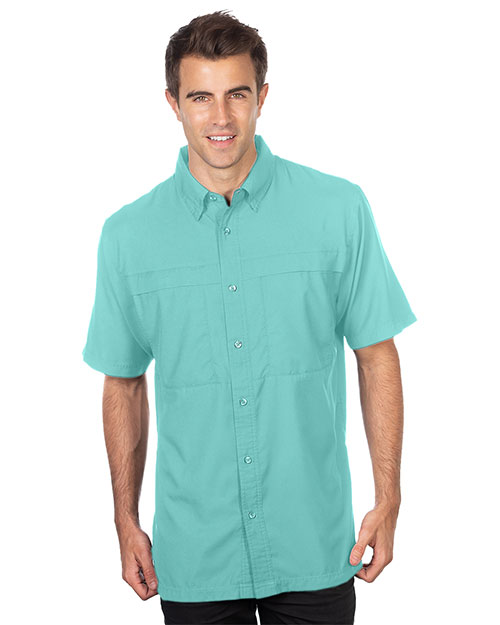Tri-Mountain W704 Men Short Sleeve Fishing Shirt at GotApparel
