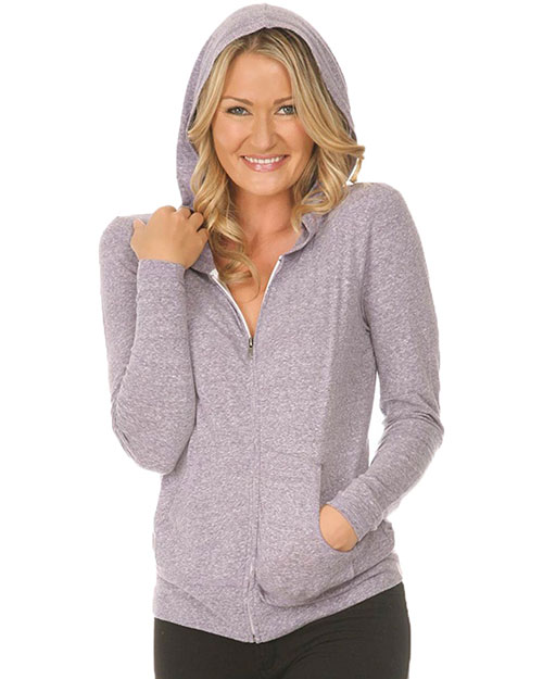 Women 2XL Snow Jersey Long Sleeve Zip Hoodie with Pouch Slcn Wsh at GotApparel