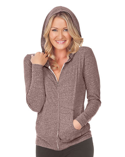 Women Snow Jersey Long Sleeve Zip Hoodie with Pouch Slcn Wsh at GotApparel