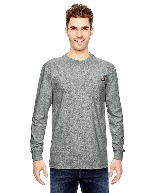 Dickies Workwear WL450 Adult 6.75 Oz. Heavyweight Work Long-Sleeve T-Shirt at GotApparel