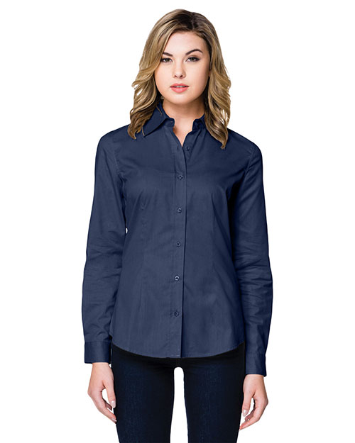 Tri-Mountain WL700LS Women Regal Long-Sleeve Woven Shirt at GotApparel